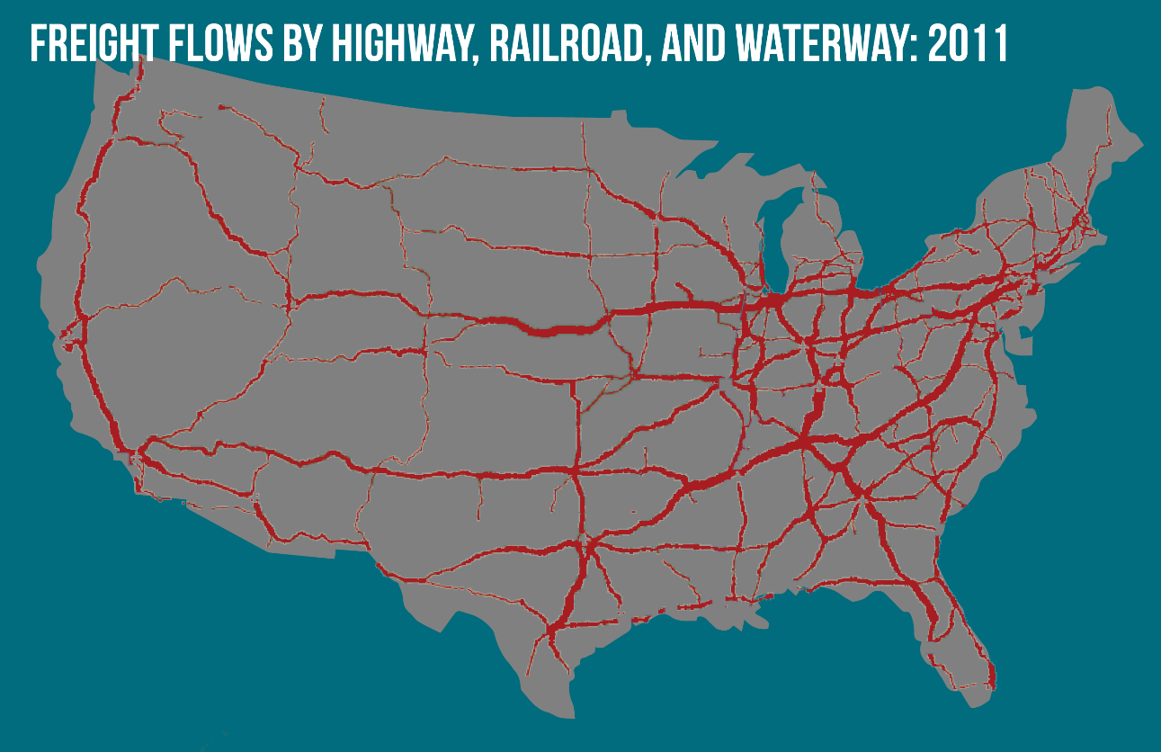 Freight Flows Map