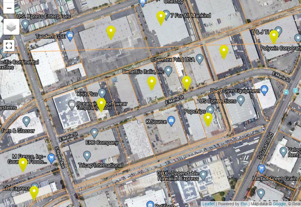 Partial satellite view over Dominguez Hills, CA